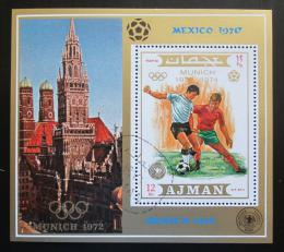Poštovní známka Adžmán 1971 LOH Mnichov, MS ve fotbale Mi# Block 337 A