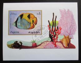 Poštovní známka Fudžajra 1972 Moøská fauna neperf. Mi# Block 108 B