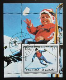 Poštovní známka Fudžajra 1972 ZOH Innsbruck Mi# Block 136 A