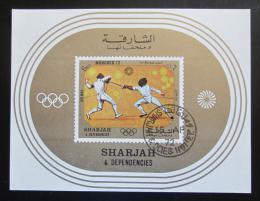 Poštovní známka Šardžá 1972 LOH Mnichov, šerm Mi# Block 108