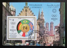 Poštovní známka Šardžá 1972 LOH Mnichov, MS ve fotbale Mi# Block 122