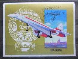 Poštovní známka Umm al-Kuvajn 1972 Concorde Mi# Block 47