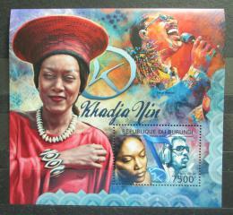 Poštovní známka Burundi 2012 Khadja Nin, zpìvaèka Mi# Block 261 Kat 9€