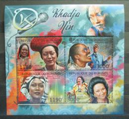 Poštovní známky Burundi 2012 Khadja Nin, zpìvaèka Mi# 2685-88 Kat 10€