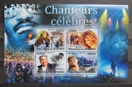 Poštovní známky Burundi 2011 Slavní zpìváci Mi# 2262-65 Kat 9.50€