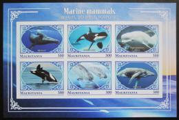 Poštovní známky Mauritánie 2018 Moøští savci neperf. Mi# N/N