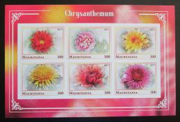Poštovní známky Mauritánie 2017 Chryzantémy neperf. Mi# N/N