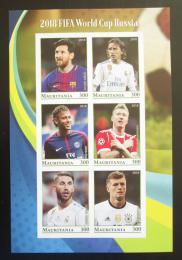 Poštovní známky Mauritánie 2018 MS ve fotbale, fotbalisti neperf. Mi# N/N