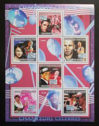 Poštovní známky Komory 2009 Slavní zpìváci Mi# 2245-50 Kat 11€
