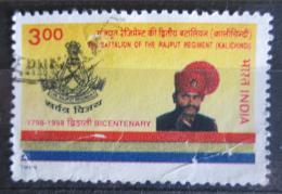 Poštovní známka Indie 1998 Armádní pluk Rajput, 200. výroèí Mi# 1656