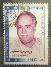 Poštovní známka Indie 1970 C. N. Annadurai, novináø Mi# 493