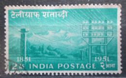 Poštovní známka Indie 1953 Indický telegraf, 100. výroèí Mi# 230