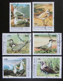 Poštovní známky Kambodža 2000 Moøští ptáci Mi# 2078-83