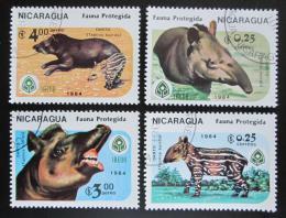 Poštovní známky Nikaragua 1984 Chránìná zvíøata Mi# 2549-52