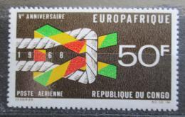 Poštovní známka Kongo 1968 EUROPAFRIQUE Mi# 153