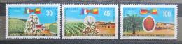 Poštovní známky Dahomey 1969 EUROPAFRIQUE Mi# 390-92