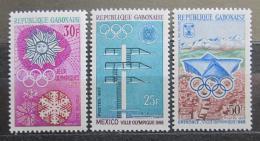 Poštovní známky Gabon 1967 Olympijské hry Mi# 270-72