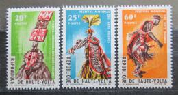 Poštovní známky Horní Volta 1966 Festival afrického umìní Mi# 182-84
