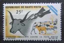 Poštovní známka Horní Volta 1966 Boj proti moru skotu Mi# 197