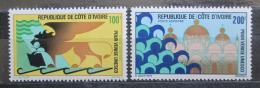 Poštovní známky Pobøeží Slonoviny 1972 Záchrana Benátek Mi# 399-400 Kat 9.50€