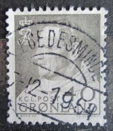 Poštovní známka Grónsko 1964 Král Frederik IX. Mi# 55