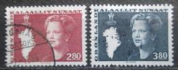 Poštovní známky Grónsko 1985 Královna Markéta II. Mi# 155-56