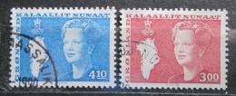 Poštovní známky Grónsko 1988 Královna Markéta II. Mi# 179-80