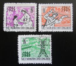 Poštovní známky Vietnam 1965 Vznik republiky, 20. výroèí Mi# 394-96