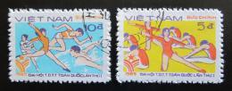 Poštovní známky Vietnam 1985 Gymnastika Mi# 1606-07