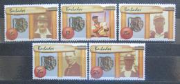 Poštovní známky Barbados 1988 Hráèi kriketu TOP SET Mi# 692-96 Kat 23€
