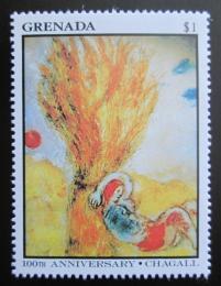 Poštovní známka Grenada 1986 Umìní, Marc Chagall