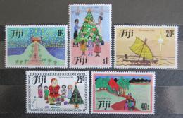 Poštovní známky Fidži 1984 Vánoce, dìtské kresby Mi# 512-16