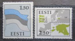 Poštovní známky Estonsko 1991 Národní symboly Mi# 174-75 Kat 6€