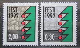 Poštovní známky Estonsko 1992 Vánoèní stromek Mi# 195-96