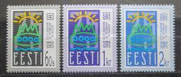 Poštovní známky Estonsko 1993 Vznik republiky, 75. výroèí Mi# 200-02