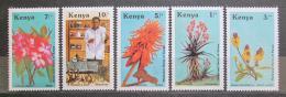 Poštovní známky Keòa 1987 Léèivé rostliny Mi# 410-14 Kat 13€