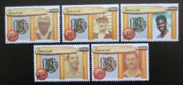Poštovní známky Jamajka 1988 Hráèi kriketu TOP SET Mi# 695-99 Kat 16€