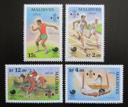 Poštovní známky Maledivy 1988 LOH Soul Mi# 1307-10