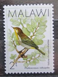 Poštovní známka Malawi 1988 Budníèek žlutoøitý Mi# 502