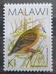 Poštovní známka Malawi 1988 Holub narùžovìlý Mi# 513
