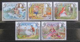 Poštovní známky Jersey, Velká Británie 2005 Pohádky, Ch. Andersen Mi# 1173-77