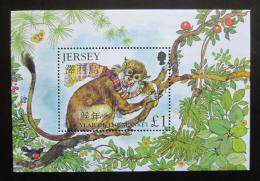 Poštovní známka Jersey, Velká Británie 2004 Èínský nový rok, opice Mi# Block 42