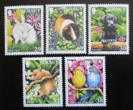 Poštovní známky Jersey, Velká Británie 2003 Domácí zvíøata Mi# 1099-1103