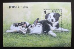 Poštovní známka Jersey, Velká Británie 2003 Border kolie Mi# Block 41