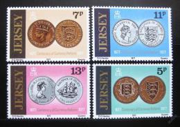Poštovní známky Jersey 1977 Mince Mi# 160-63