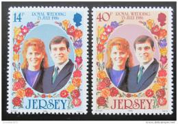 Poštovní známky Jersey 1986 Královská svatba Mi# 386-87