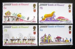 Poštovní známky Jersey 1970 Bitva kvìtin Mi# 30-33 Kat 16€