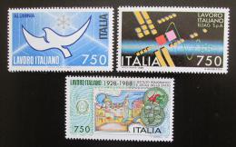 Poštovní známky Itálie 1988 Italské technologie v zahranièí Mi# 2063-65