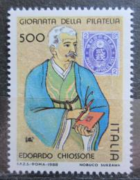 Poštovní známka Itálie 1988 Edoardo Chiossone, malíø Mi# 2069