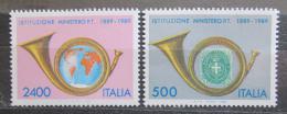 Poštovní známky Itálie 1989 Poštovní trubka Mi# 2088-89 Kat 5€